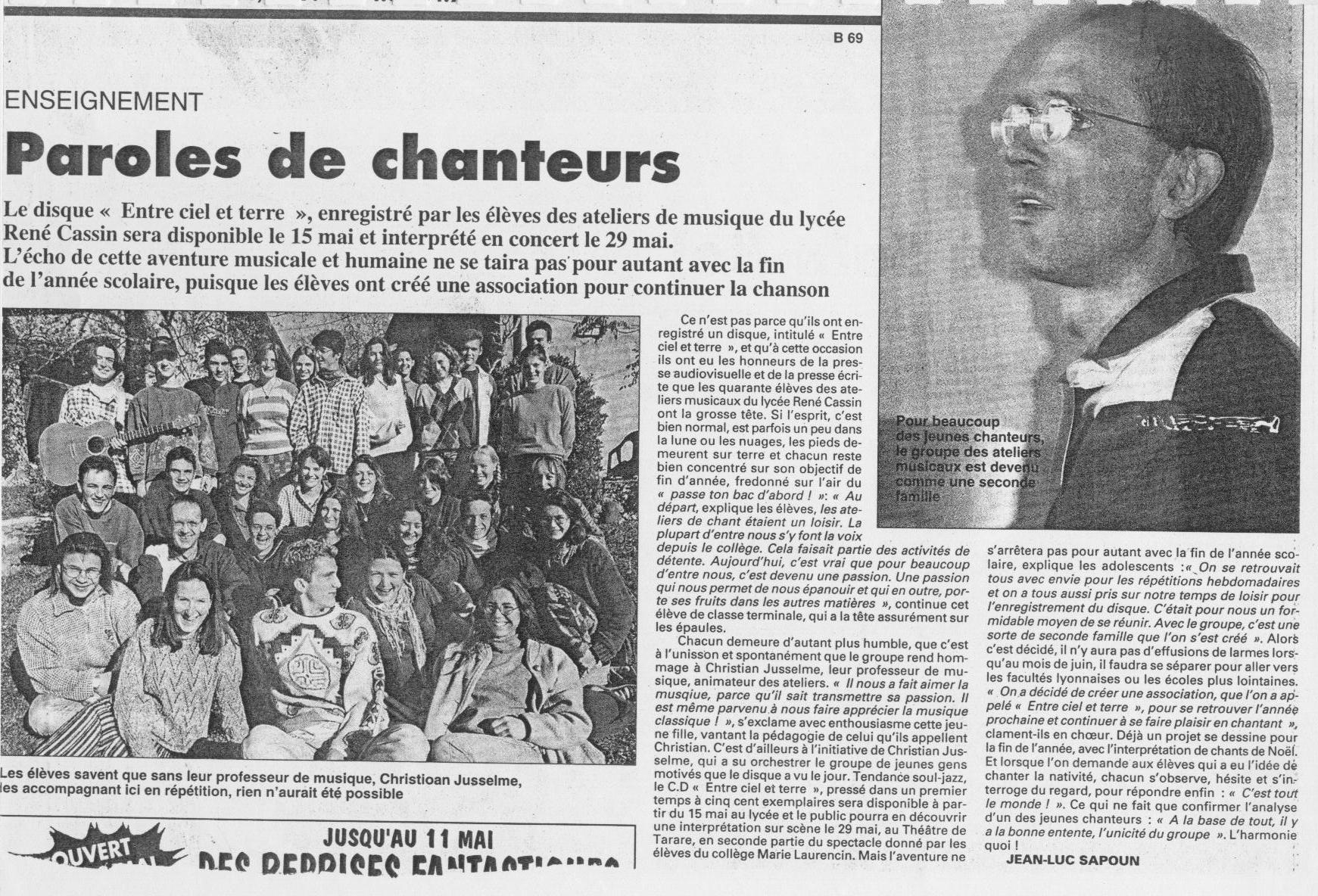 © Le Progrès | 6 mai 1997