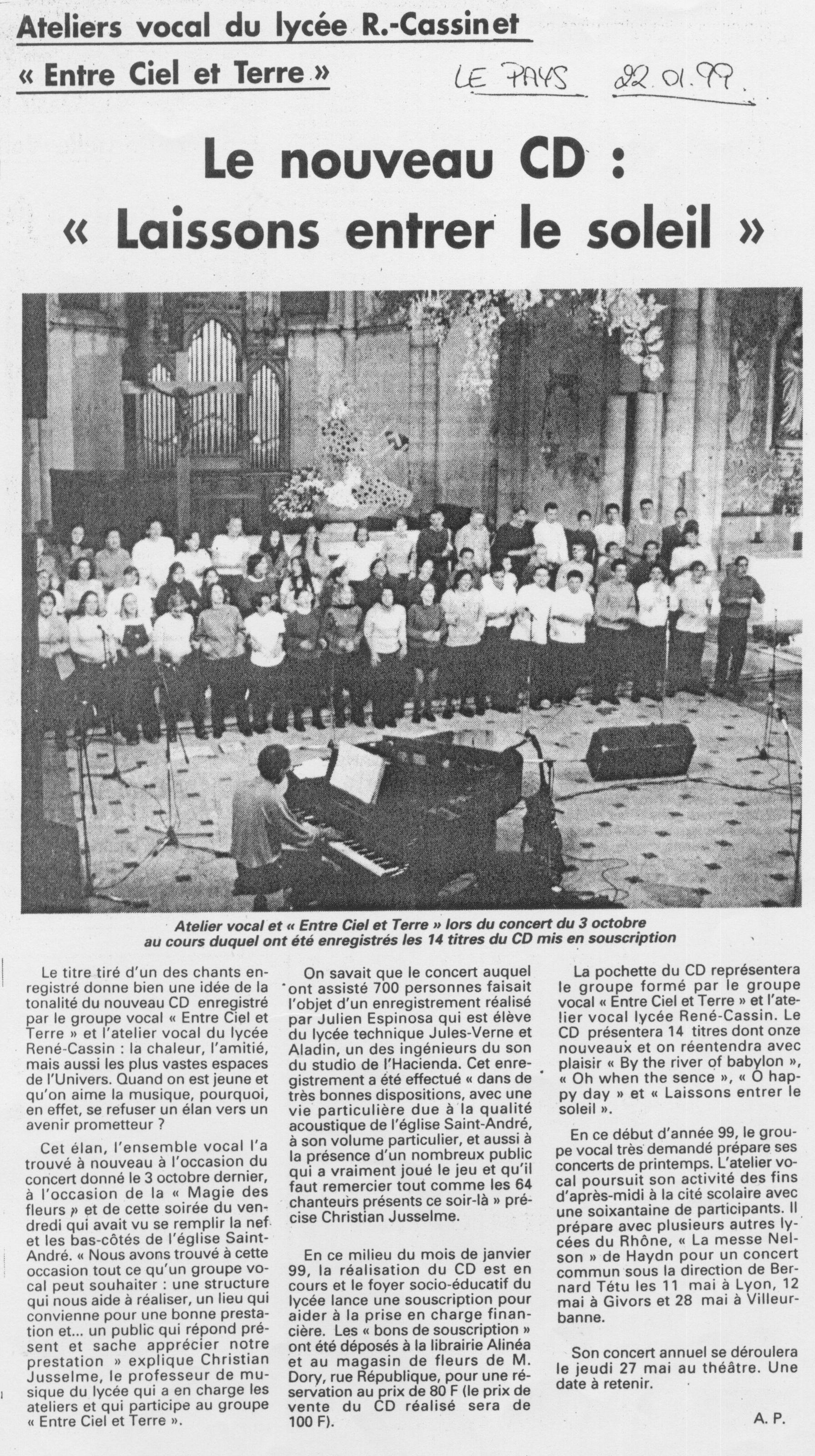 © Le Pays | 22 janv. 1999