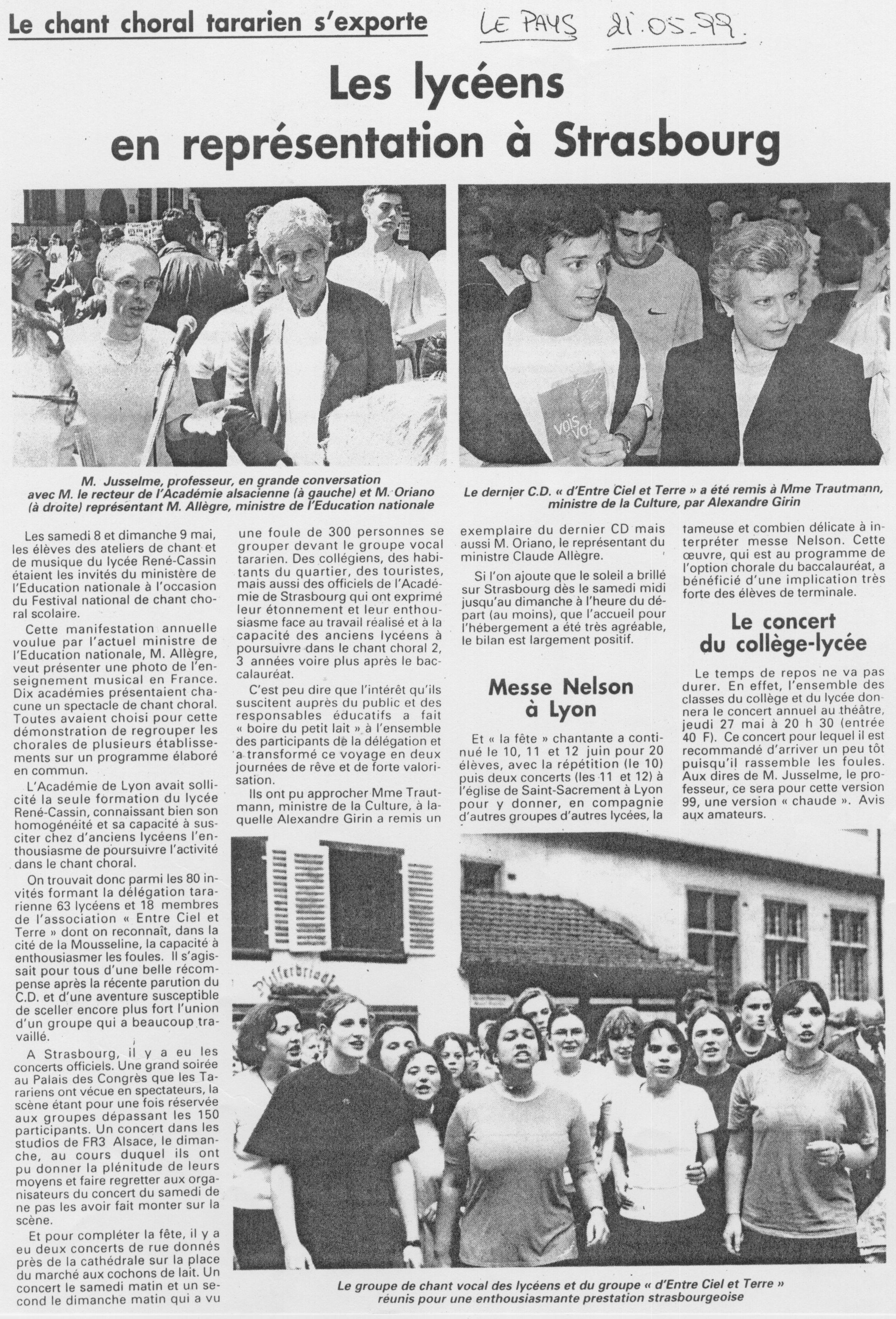 © Le Pays | 21 mai 1999