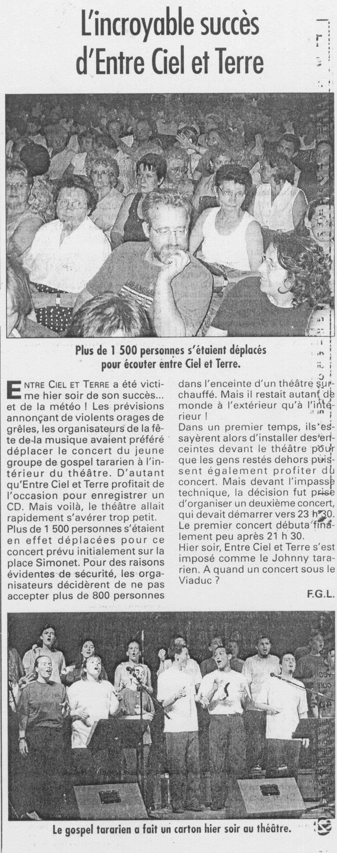 © Le Progrès | 22 juin 2000