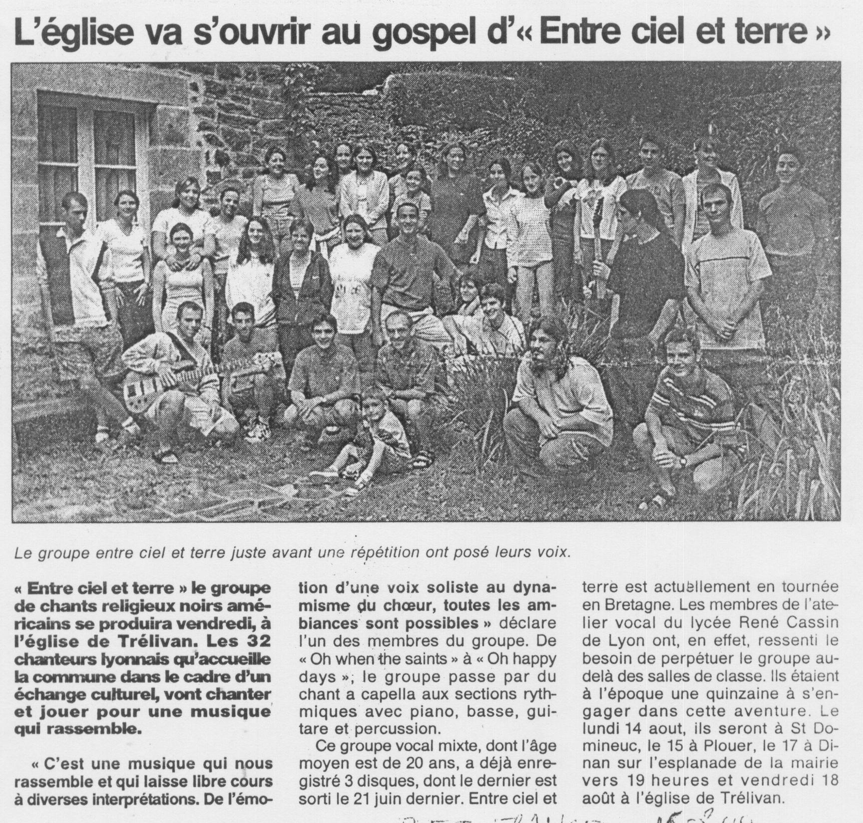 © Ouest France | 15 août 2000