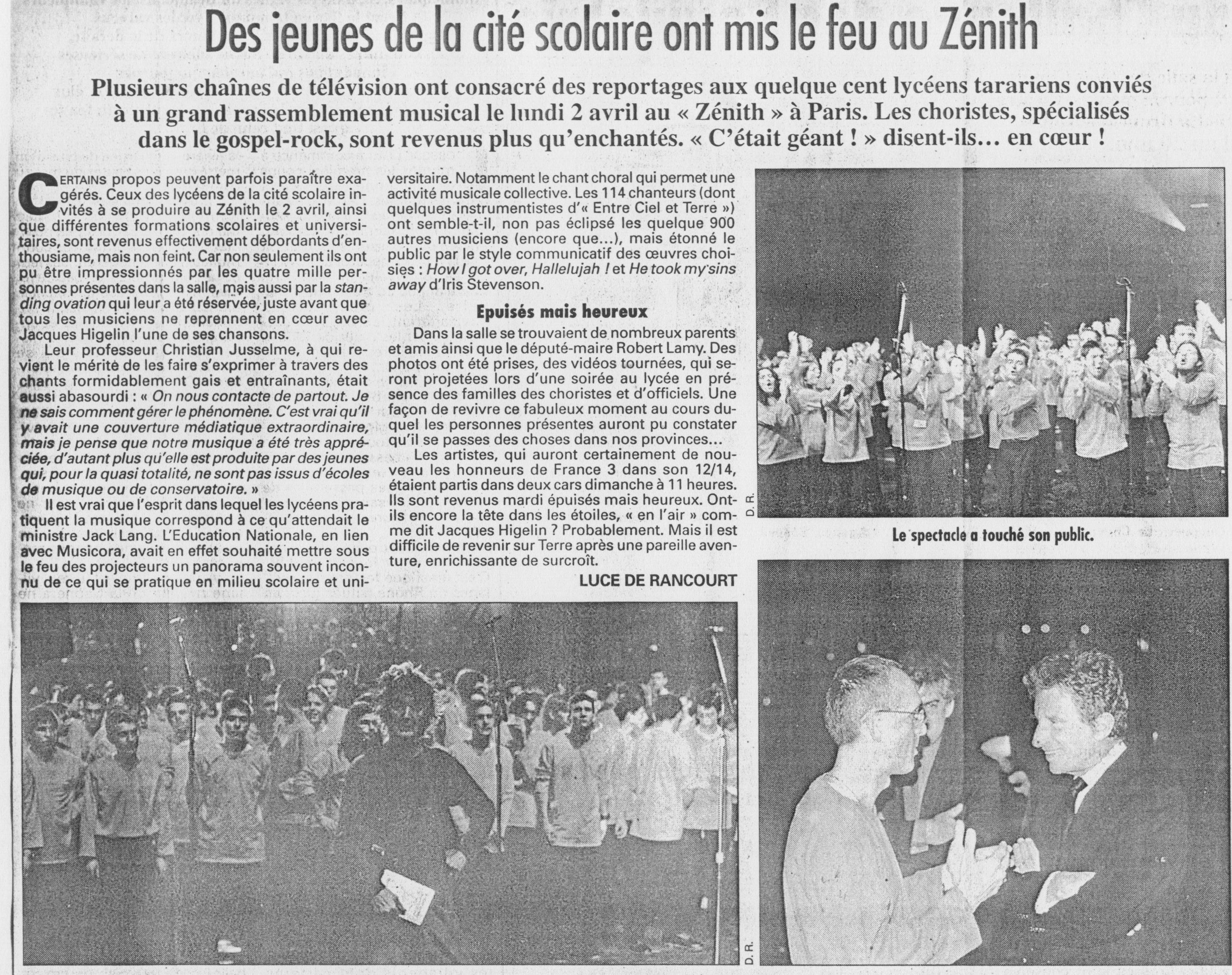 © Le Progrès | 4 avril 2001