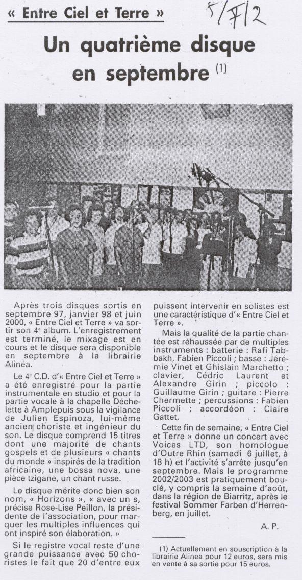 © Le Pays | 5 juillet 2002