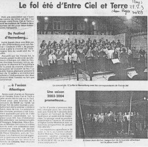 © Le Pays   28 août 2003