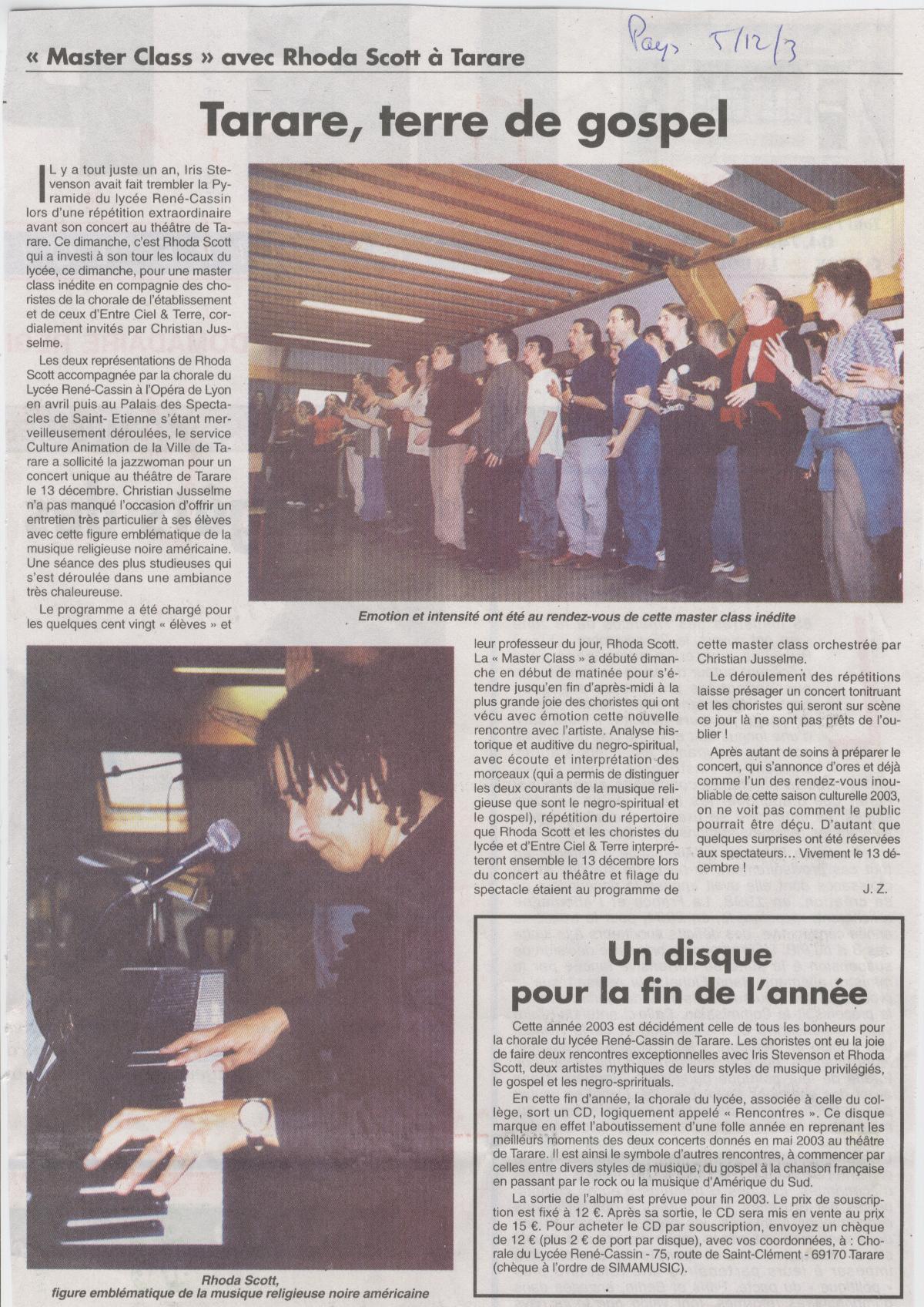 © Le Pays | 25 déc. 2003