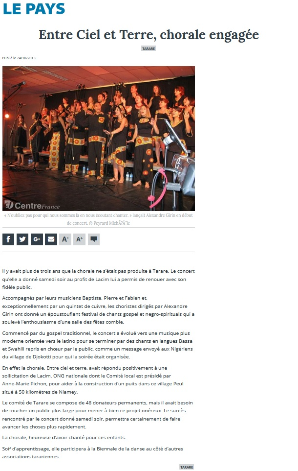 © Le Pays | 24 oct. 2013